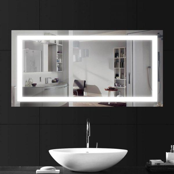 luz led espejos bano