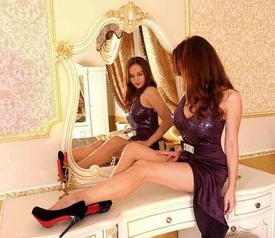 Espejos estilo victoriano decoración antigua retro vintage