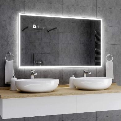 Espejos con luz LED para baño nuevo modelo diseño único pantalla táctil hora clima temperatura