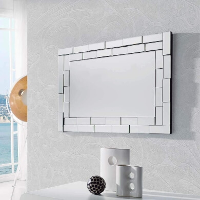 Espejo Decorativo Rectangular salon comedor dormitorio pasillo recibidor hoteles restaurantes bares locales comerciales