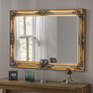 espejos decorativos oro dorados marcos madera metal modernos vintage retro antiguos