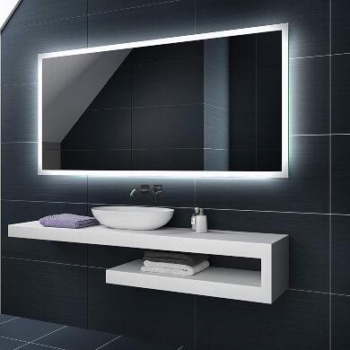 espejo con retroiluminación para baños aseos hoteles restaurante hogar