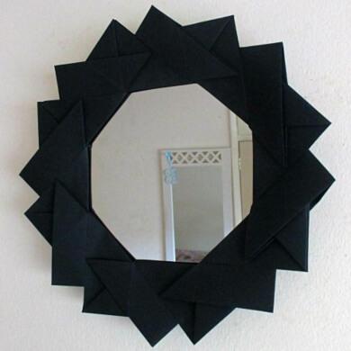papel origani marcos de espejos decorados