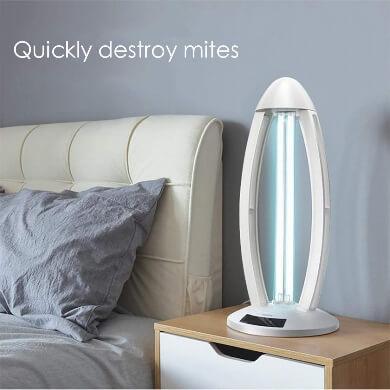 Desinfectante esterilizante germicida limpieza LED UV lámparas ultravioleta precaución atención