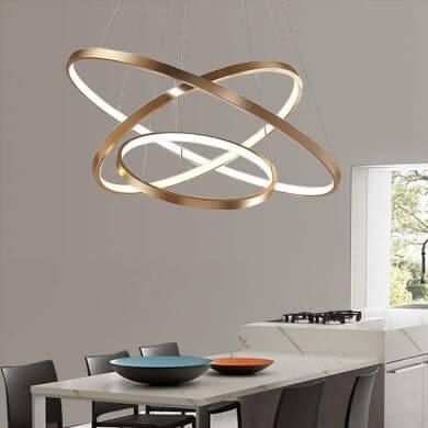 Lámparas de Techo Led de Diseño para salón comedor dormitorio hogar restaurante local comercial