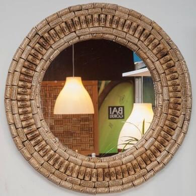 marco espejo decorativo corcho reciclado manualidades casa familia facil