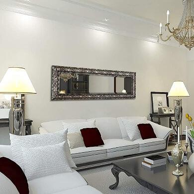 espejos decorativos en el salon interiorismo decoracion de interiores